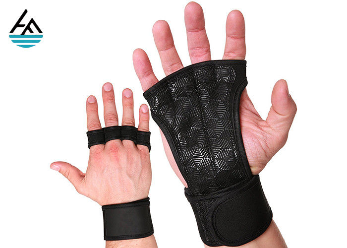 Waterproof Neoprene Weightlifting Wrist Wrap With Leather Hand Grip