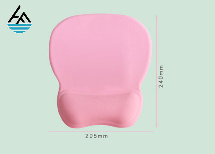Distinctive Pink Computer Mouse Pad With Wrist Rest Support Light Weight For Office