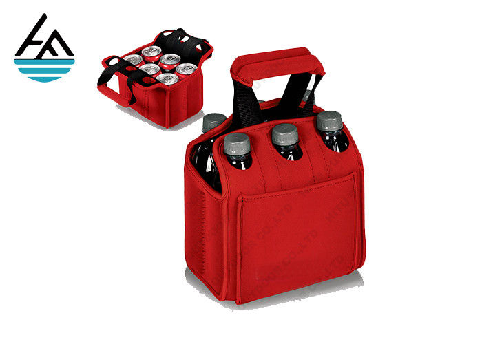 Custom 6 Pack Cooler Tote Durable Insulated Six Pack Carrier With Handle