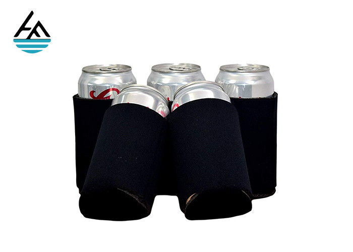 Custom Neoprene Can Holder Neoprene Beer Can Cooler Stitched Fabric Edges