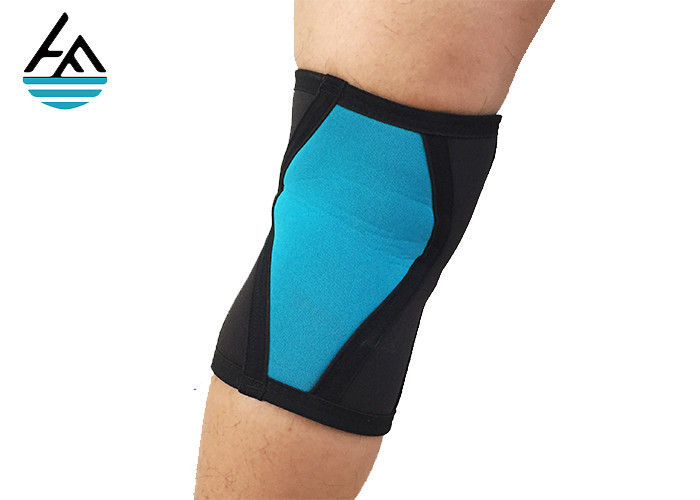 Breathable Knee Therapy Support Sleeve , Blue Xxl Neoprene Knee Wrap