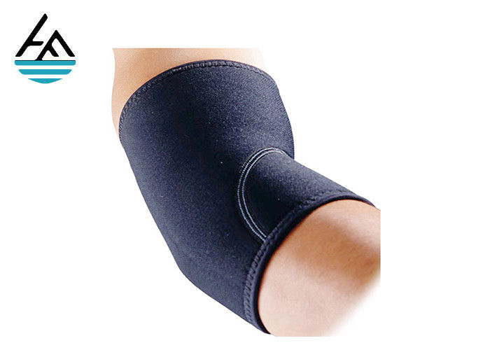 Black Weight Lifting Elbow Sleeves For Working Out  / Compression Elbow Support
