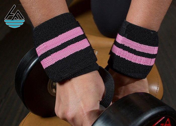 Super Heavy Pink Weight Lifting Wrist Straps Powerlifting With Mutifunction