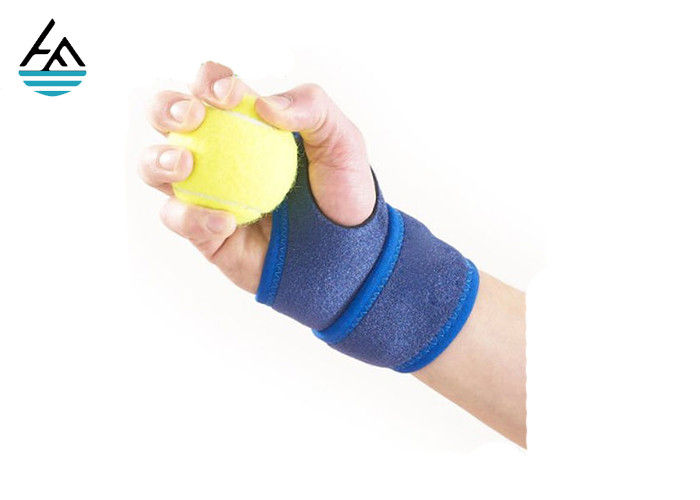 Bule Weightlifting Wrist Wrap Wrist Bandage  With Hand Grips Pads