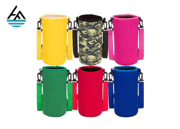Colorful Printed Can Cooler Bag , Neoprene Can Cover Simple Fashion Diving Material